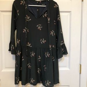 Madewell green floral dress